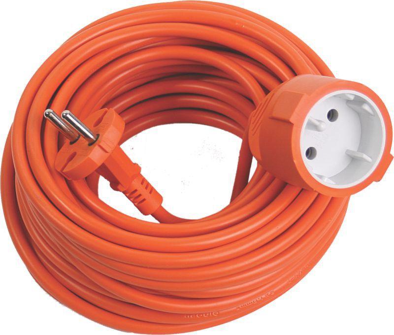 Predlžovací kábel oranžový  20m  1 zásuvka