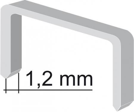 spony 12mm/1,2mm, 1000ks