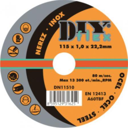 Rezný kotúč 125x2,0x22,2 mm   (sada 10 ks)   oceľ