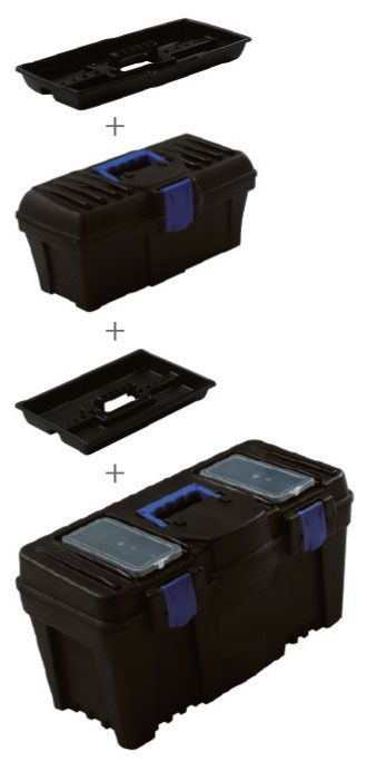 KP-1225 SET 2 v 1   Plastový box s organizérom