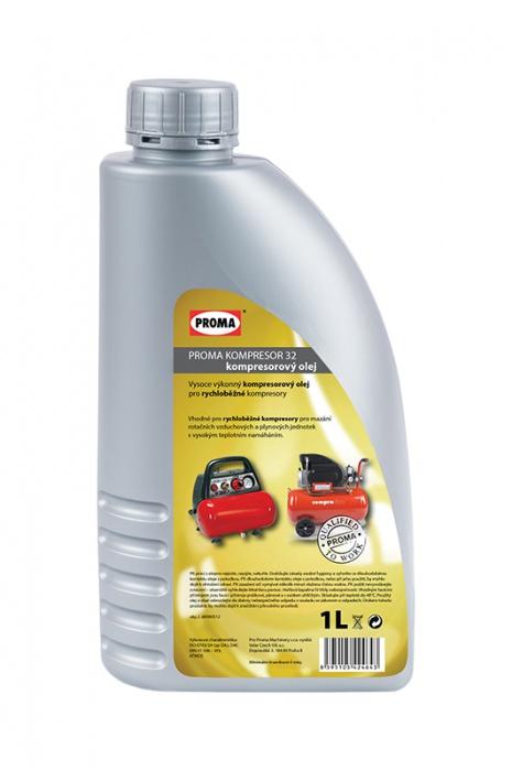olej PROMA KOMPRESOR 32 - kompresorový  1l   pre rýchlobežné kompresory