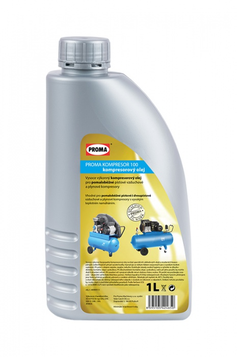 olej PROMA KOMPRESOR 100 - kompresorový  1l   pre pomalobežné kompresory