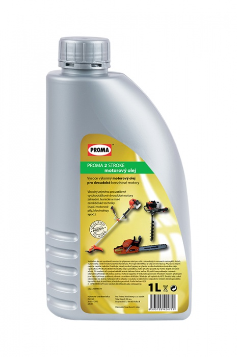 olej PROMA   2-STROKE - motorový 1l   pre 2-taktné benzínové motory