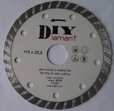 DIYT 125 TURBO  diamantový kotúč celoobvodový DIY