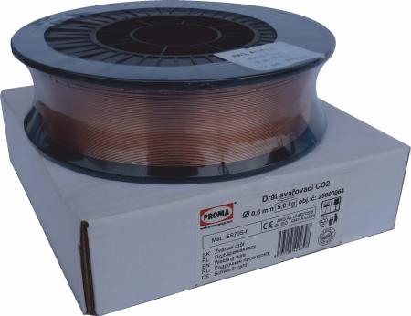 Zváraci drôt pr. 0,6 mm, bal. cievka 5 kg  (HS code 72292000 - prenos daňovej povinnosti)