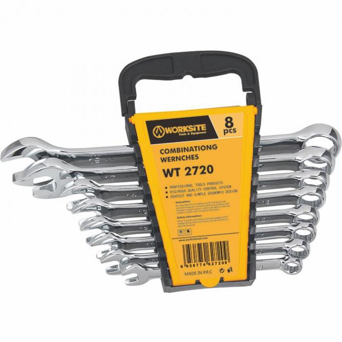 WT2720   kľúče očkoploché 8 ks (8-19mm)