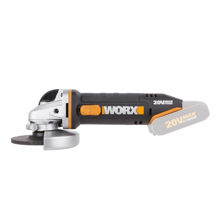 WX800.9  akumulátorová uhlová brúska 115 mm  (bez akumulátora)  Powershare