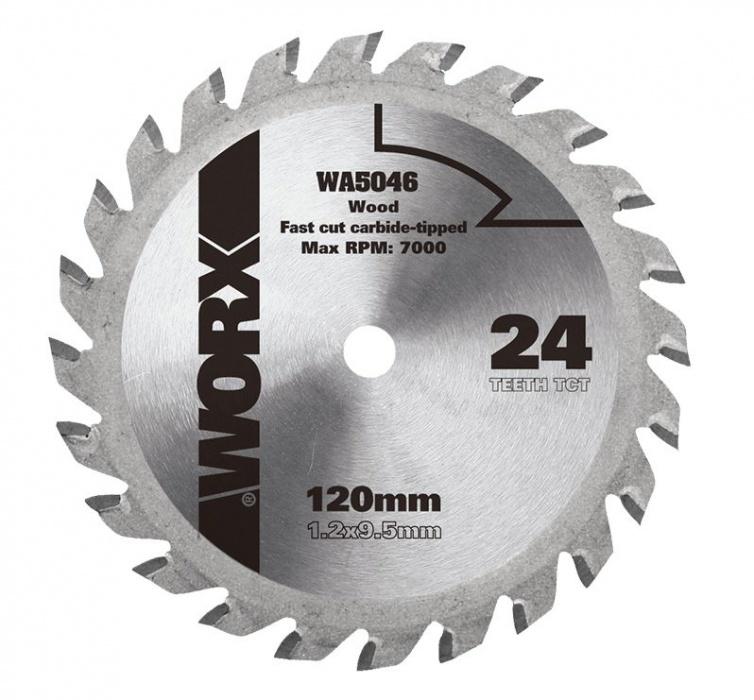 WA5076 pílový kotúč na drevo , pr. 120 mm, 24 zub TCT