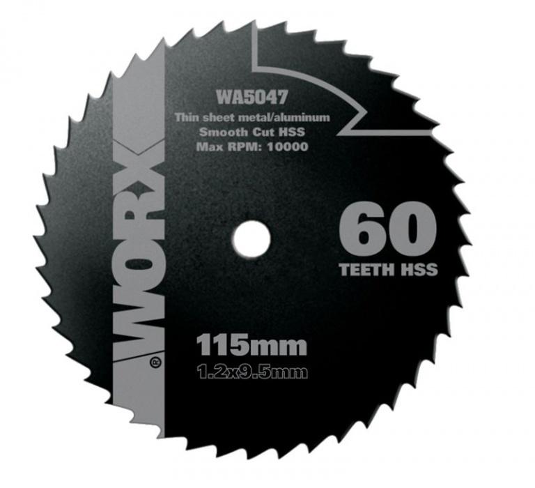 WA5077 pílový kotúč na drevo/kov , pr. 115 mm, 60 zub HSS