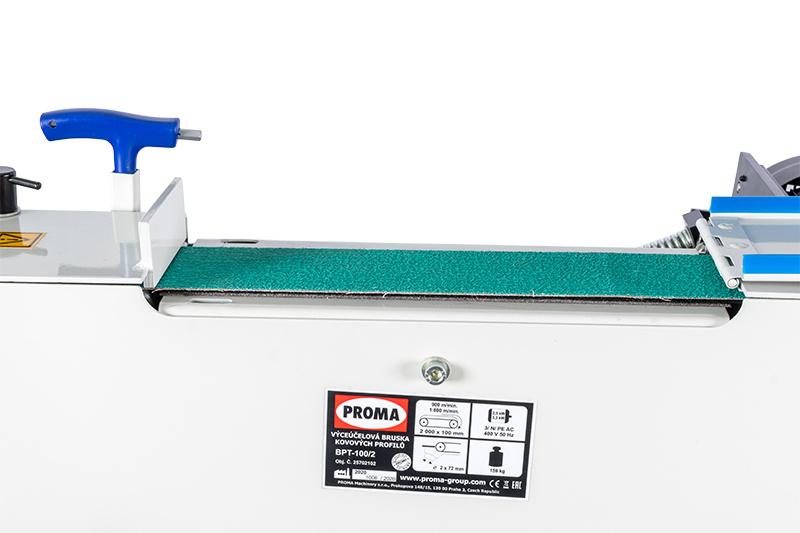 BPT-100/2  Viacúčelová brúska kovových profilov  3 v 1