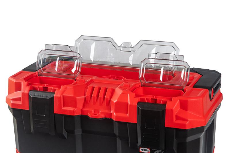 KP-15T Plastový box s hliníkovým držadlom a gumenými rohmi
