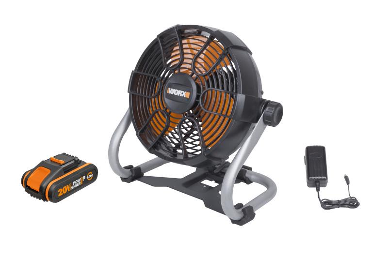 WX095 - Aku ventilátor 20V -  PowerShare
