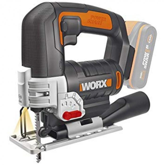 WX543.9 - Aku priamočiara pila 20V - bez akumulátora - PowerShare